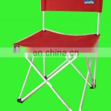 2018 Steel frame folding chair beach chair fishing chair with red 600D polyester fabric