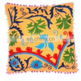 Handmade Suzani hand embroidery Pillow cases Indian Traditional Cotton cushion cover Wholesale