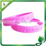 customized embossed logo sports silicone bands