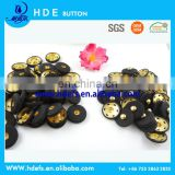 black colo fabric cover buttons