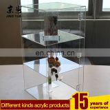 locked acrylic jewely display case plexiglass ring display cabinet perspex jewelry case with lock and key