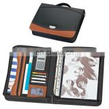 new fashion portable PU leather planner notebook set with mini calculator and cards/pen holder NOTEBO908-5