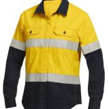 Hi vis shirt  workwear shirt with reflective tape Image