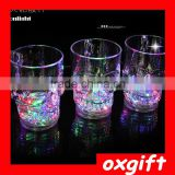 OXGIFT led colorful flash transparent glass bar skull cup cup creative color plastic cups