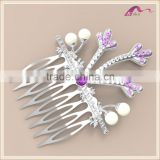 New Designer Custom Pearl Crystal Antler Decorative Hair Comb For Wedding Accessories
