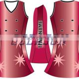 2016 lastest design custom sexy ladies netball uniforms bodysuit, netball dress
