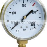 YJE-R- PRESSURE GAUGE ,AIR GAUGE plastic case ,brass bottom connection