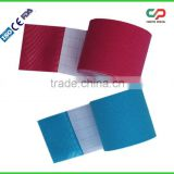 CE/ FDA Kinesiology Therapy Sports Cure mixted color multifunction 5cm x 5m Kinesiology Athletic Tape (manufacturer)