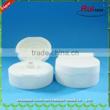 Plastic white flip top cap 38-400 / 38-400 and 53.5mm closure ribbed cap for tomato bottle