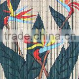High quality best selling Bamboo Door Curtain with Bird of Paradise in Viet Nam