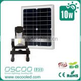 10W 20W 30w portable Motion Sensor Rechargeable lithium battery 10W IP65 10w solar rechargeable led flood light