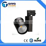 2700k- 6500K Commercial LED track light with black and white body