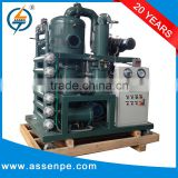 High Performance Double Stage transformer transformer oil filtering machine/oil recycling process