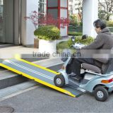 High quality and Best-selling Center Folding Ramp for Disabled for wheelchair, electric wheelchair and etc