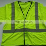 High visibility mesh safety vest with 3M tape