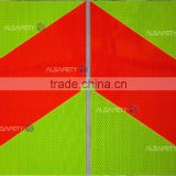 fluorescent yellow-green high intensity prisamtic reflective sheet for vehicles