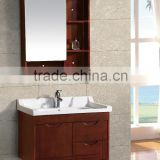 Hot selling solid wood bathroom cabinet, cheap bathroom cabinet, bathroom mirror cabinet with light(EAST-28037)