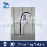 Office customized teardrop table flag stand                                                                         Quality Choice