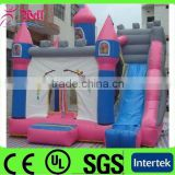 2015 Good quality nflatable bouncy castle with water slide / castle bed / inflatable air castle for sale