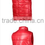 winter wholesale 100% polyester men leather biker vest custom