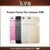 Frame Cases Ultra thin Aluminum Bumper Frame Acrylic Back Cover For Lenovo S90 Ultra Thin 2 in 1 Metal Frame Cover Housing