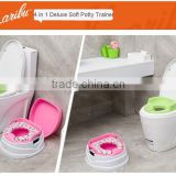 PM2398 2014 China Factory Hotsell Cheap EN71 Safety 4 in 1 Soft Seat Potty Trainer and Stepstool Seat with Handle