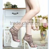 Wholesale Sexy Alluring Women High Heel Rubber Sandal Shoes Super High 20CM Heels Platform Sandals with Three Colors