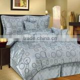 High density cotton dyed and printed jacquard fabric/bed sheet