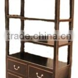 Chinese wooden simple bookcase 3 drawers LWA554