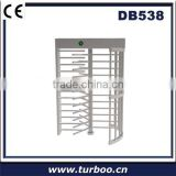 Full-height Secure Passage Portals Stainless Steel Full Height manual Turnstile with rfid smart card