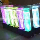 acrylic water bubble wall table for bars, assorted color table