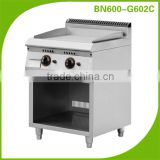 Cosbao Stainless steel flat plate gas grill griddle/commercial bbq equipment (BN600-G602C stretched surface)
