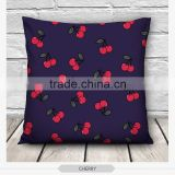 100% polyester cover fashion red cherry design 3d print pillowcases fullprint decorative throw pillow covers seat cushion Cover