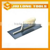 construction tools wood handle blue carbon steel blade cement plastering trowel for painted walls