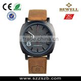 High end stainless steel case genuine leather strap sports watch wholesale custom logo watch