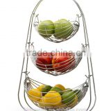 2015 Best Selling 3-Tier Wire Hanging Basket/Modern Fruit Basket/Chrome Metal Wire Hanger/metal wire fruit basket