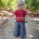 Cheap Prices!! Light denim jeans loose fit balloon pants for kids big bell girls pant
