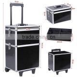 Trolley Cosmetic Case, Luggage Cosmetic Suitcases, pro Vanity Beauty Storage Suitcase Alu Beauty Trolley Case
