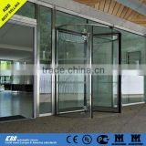 glass revolving door from china suppliers with low price with tempered glass aluminum frame stainless steel surface