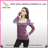 fancy girl long sleeve seamless t shirt wholesale china woman shirt