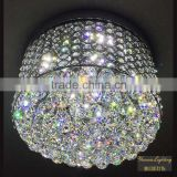 Best K9 crystal iron base material chrome finshed chandelier ceiling lamp for bedroom decor                                                                         Quality Choice