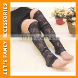 Black sexy lace leg warmer multi-striped dance girl Legwarmers leg warmer dance PGLW-0018