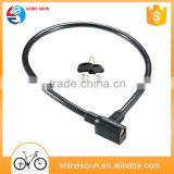 Custom competitive price PVC high quality whole sale bicycle bike lock Motorcycle anti-theft lock for hot sale