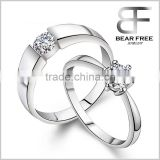 Infinity Cubic Zirconia 925 Sterling Silver Eternal Promise Couples Diamond Rings for Engagement