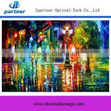 2015 Hot Sale Custom 3D Oil Painting On Canvas With Led Light