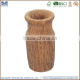 2015 new naturally beautiful hand carved arts mind wooden flower vase                                                                         Quality Choice
