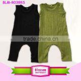 Infant solid color cotton baby romper plain baby bodysuit customized printing blank baby romper