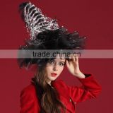 Ladies Fancy Occasion Hat Easter / Christmas Hat With Feather / Sinamay Ornament For Party