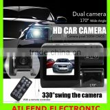 Dual Lens Car Camera i1000 Car DVR Dual Camera HD 1080P Dash Cam Black Box With Rear 2 Cam Vehicle View Car Recorder