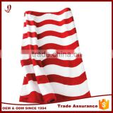 Red and White Beach Towel Manufacturer Cotton Weighted Beach Towel